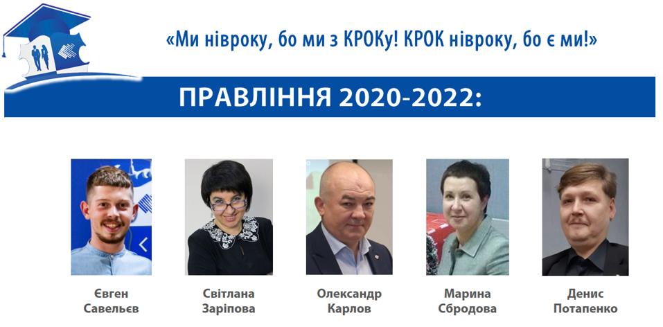 """Правління АВУ """"КРОК"""" 2020-2022"""